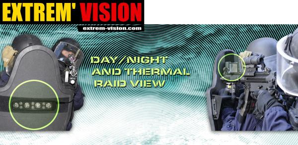Sistema de visión e iluminación día/noche para escudos antibala